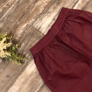 Rue21 Maroon Mini Skirt Ladies XS